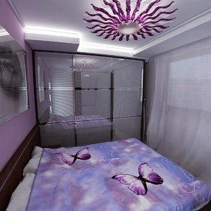 3d model bedroom furnitures easy