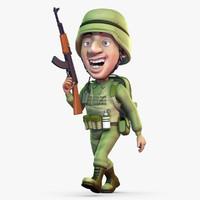 Rigged Cartoon Soldier