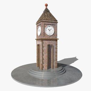 3d clock tower