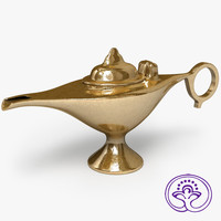 3d 3ds aladdin lamp