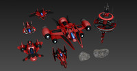 3d space craft pack modular