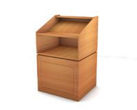 podium wood 3d c4d