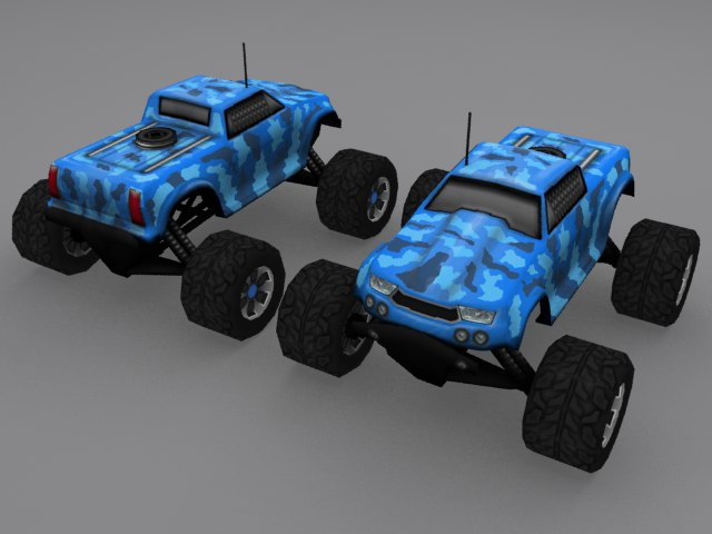 nitro rc car 3d obj