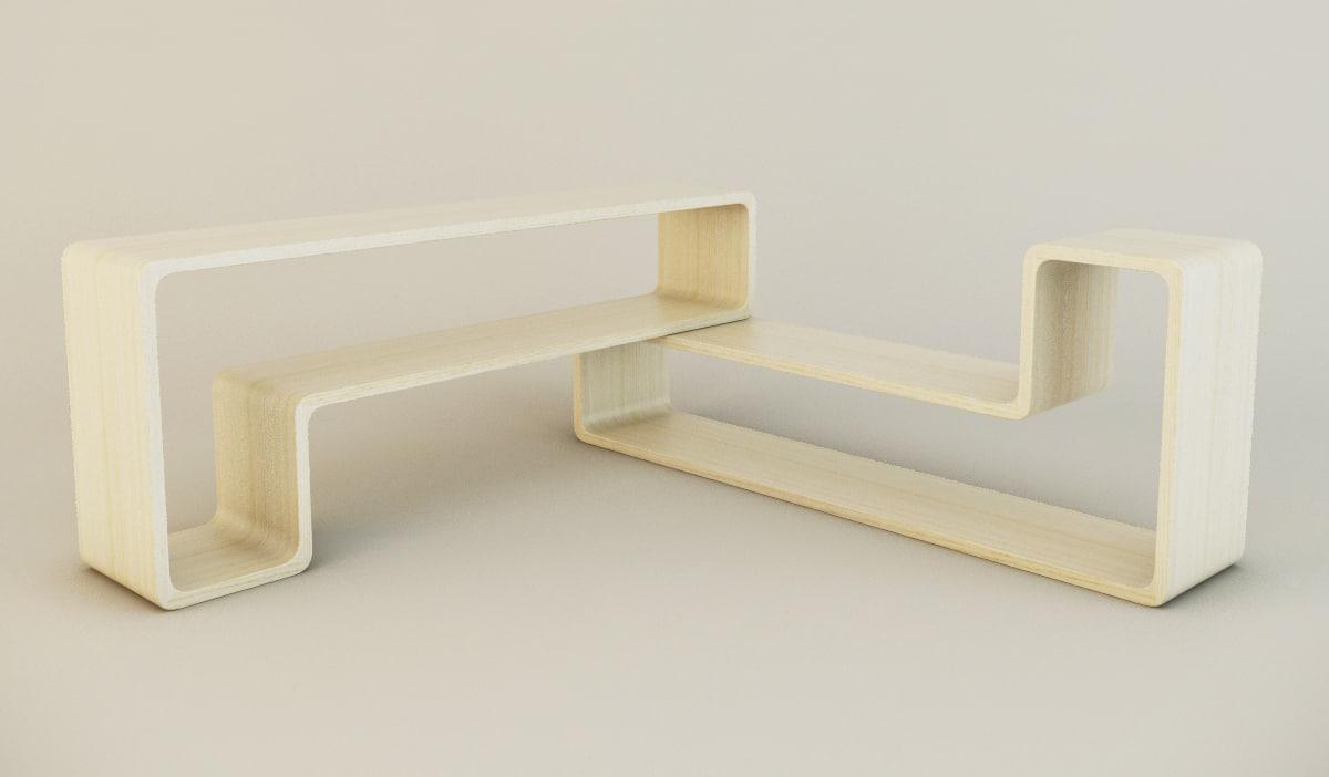 3dsmax floor shelf