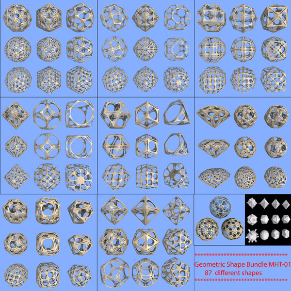 geometric shape mht-01 3d model