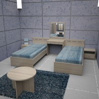 bed room hotel 3d max