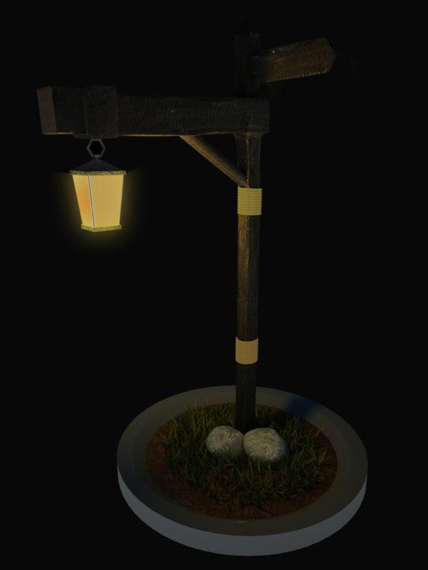 free lamp post 3d model