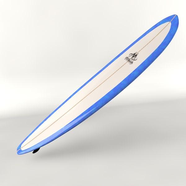 longboard surfboard 3ds