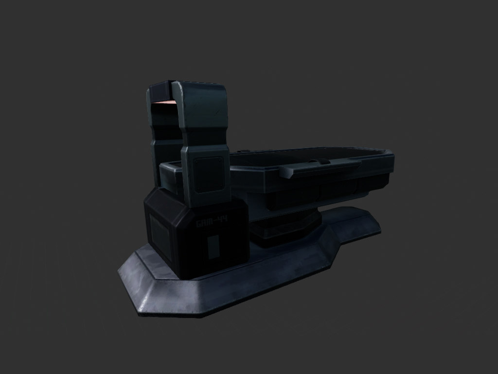 3ds max bed scifi medical