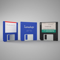 floppy disk obj