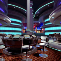 3d model of modern casino interior