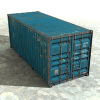 c4d ruined container 20 ft