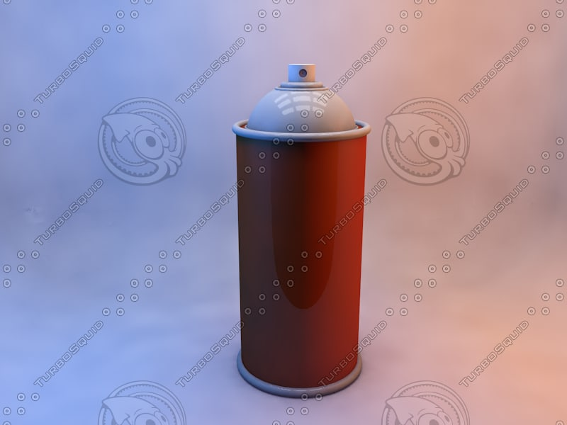 3d model spraycan lightroom
