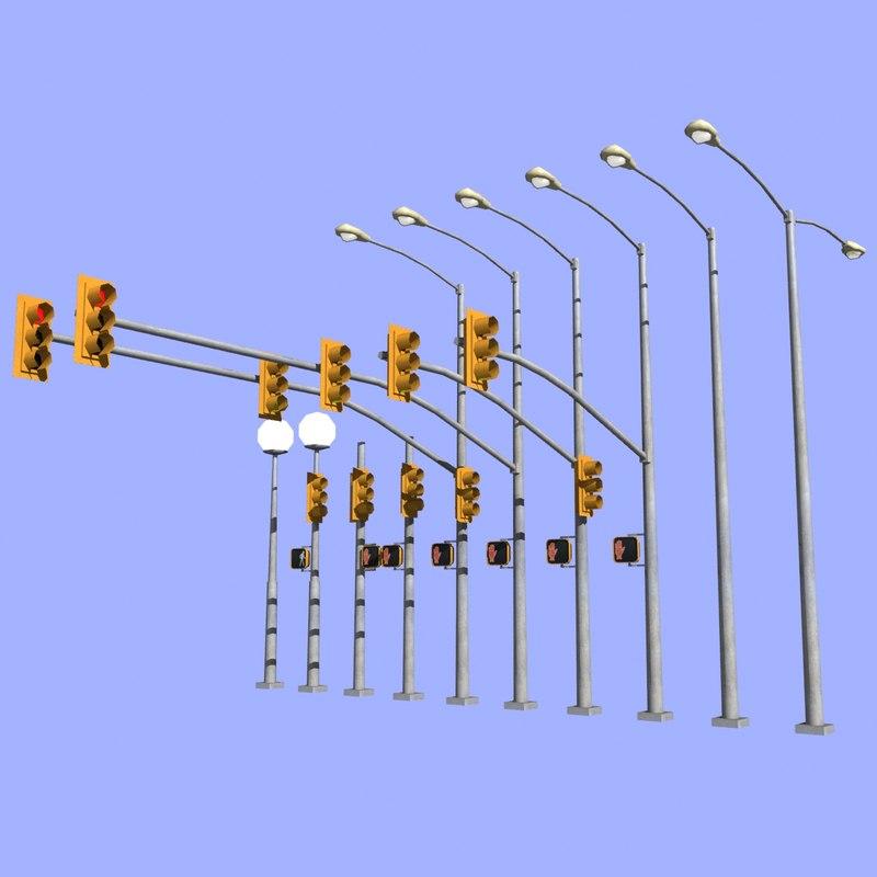 3d traffic light mht-01 model