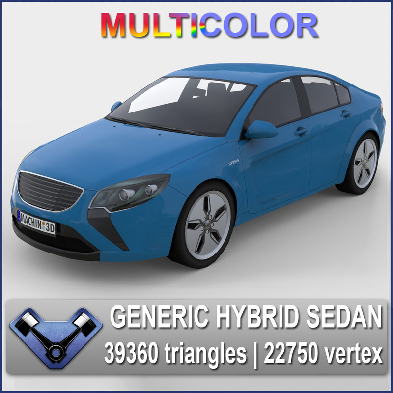 3d model generic sedan majestic