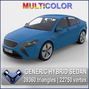 3d model generic sedan majestic