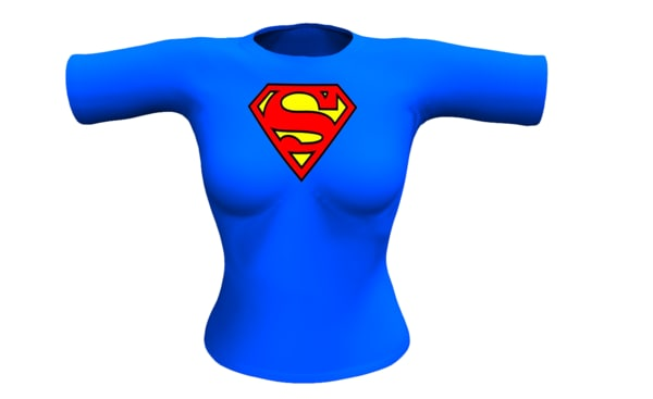 3ds max sexy superman girl shirt