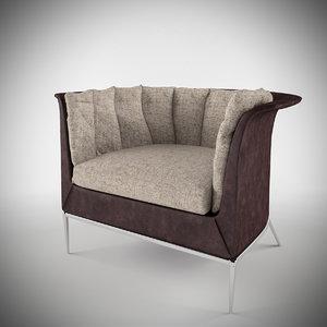 3d buttercup armchair model