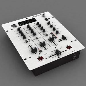 dj mixer 3d max