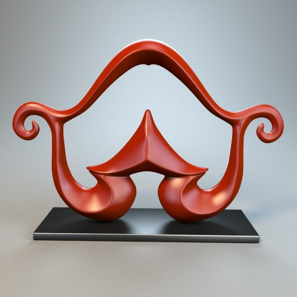 3ds sculpture statue