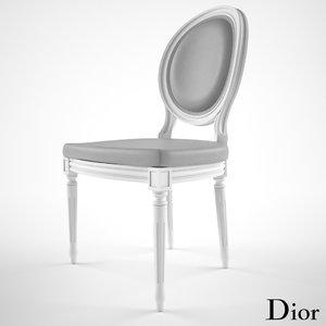 3d dior chair