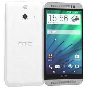 3d model htc e8 white