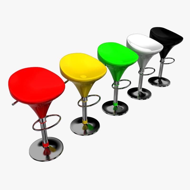 3d bar chair stool