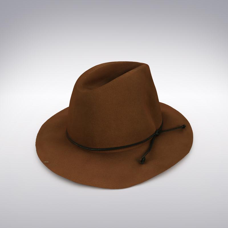 felt hat scanning 3d max
