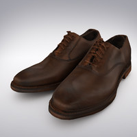Men's Leather Dress Brown Shoe - 3D Scanned