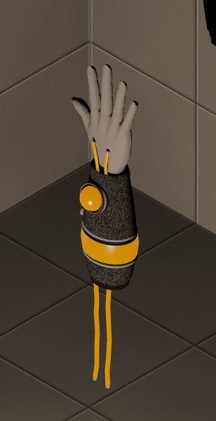 power hand 3d max