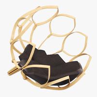 bourgogne chair designer mikael 3d obj