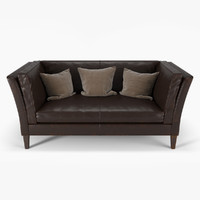 brooks leather settee max