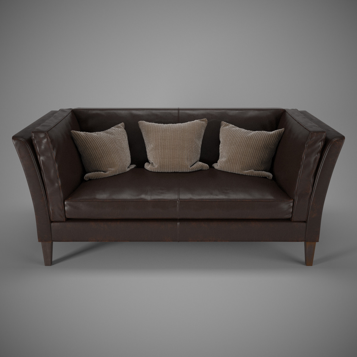 3d brooks leather settee model