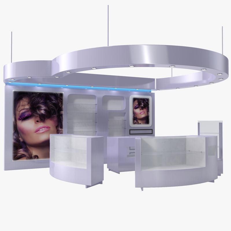 3ds cosmetics display kiosk