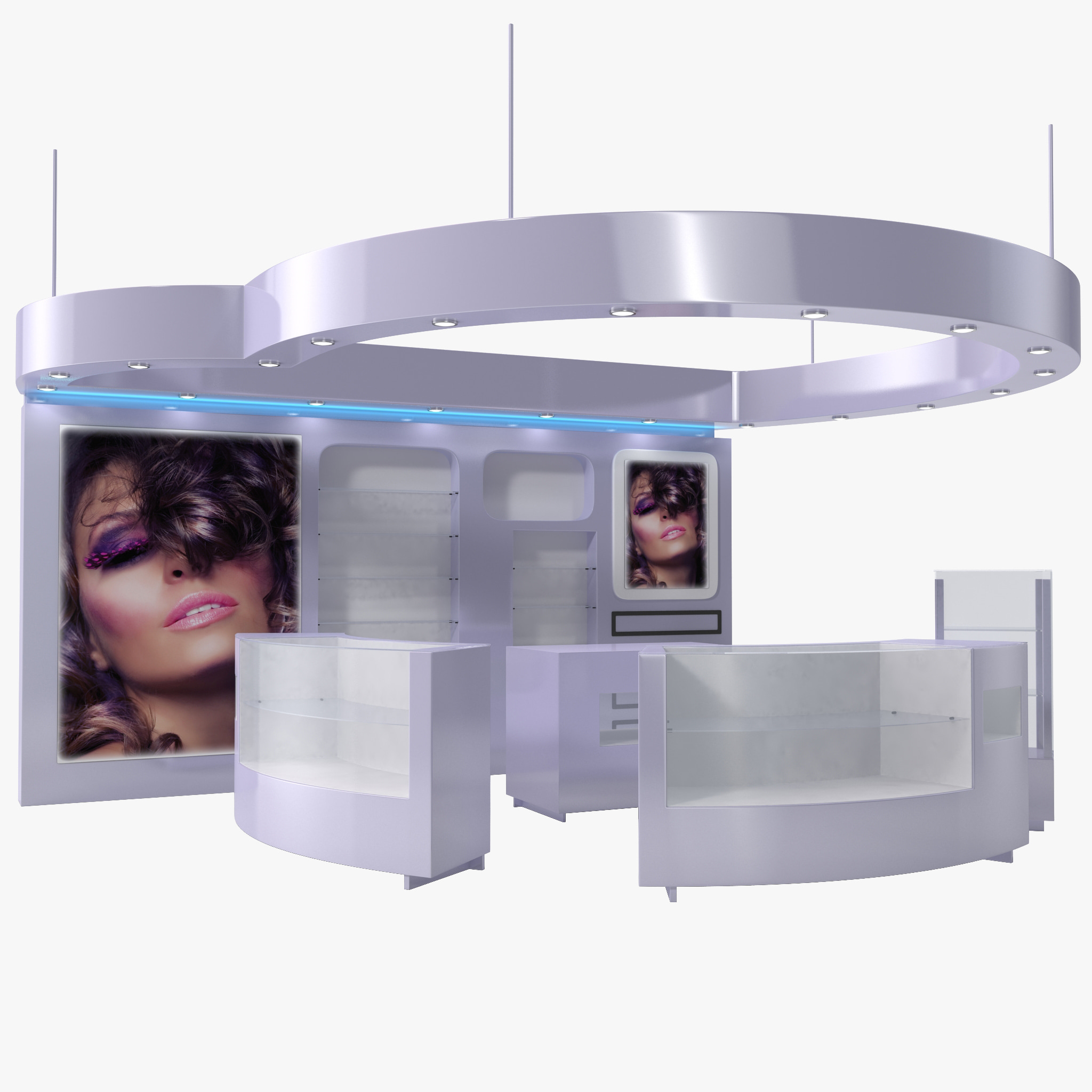 3ds cosmetics display kiosk