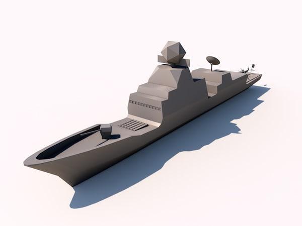 f100 frigates spanish c4d