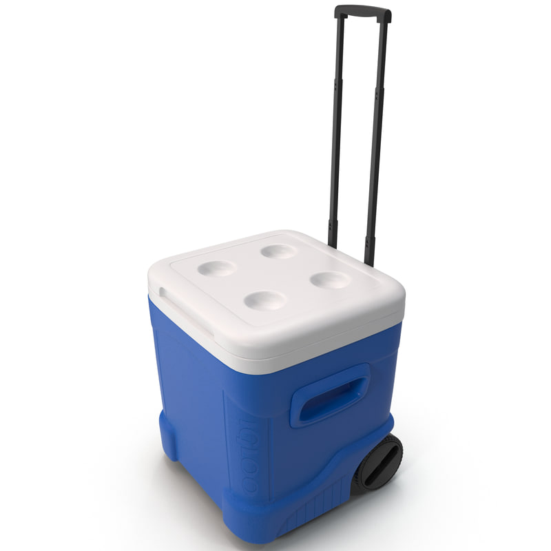 ice cube rolling cooler 3d model