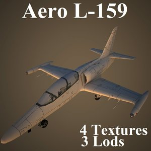 aero low-poly aircraft 3d max