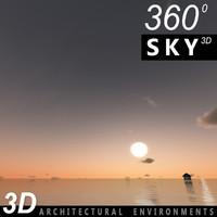 Sky 3D Sunset 061