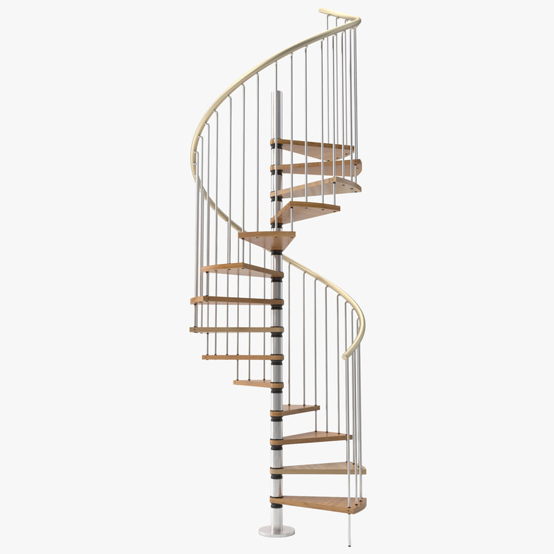c4d spiral staircase