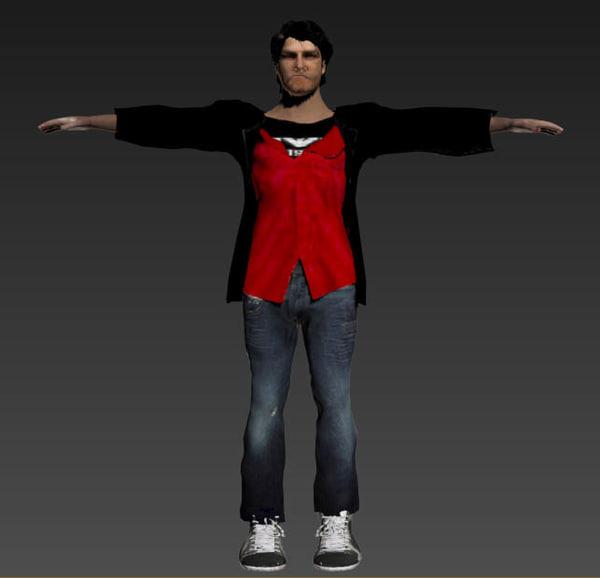 male hero 3d model