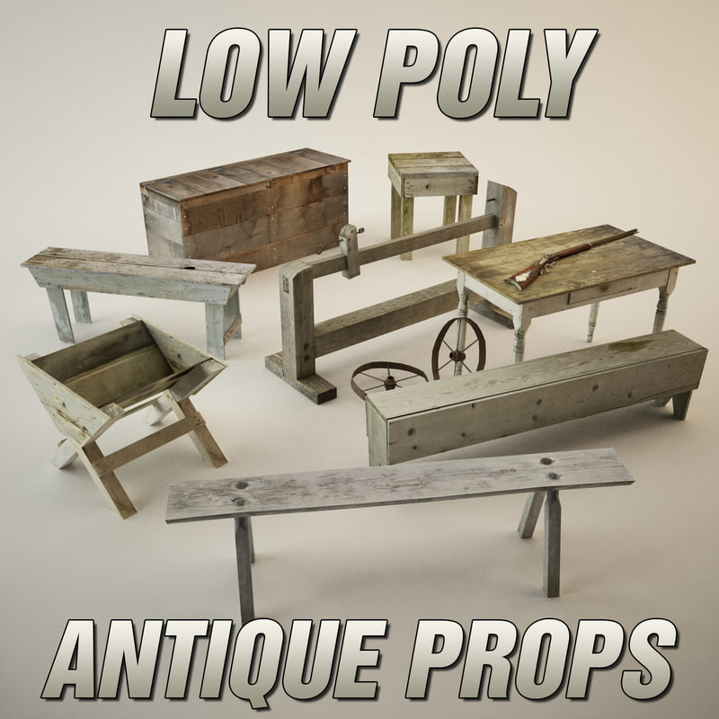 3d model antique props pack