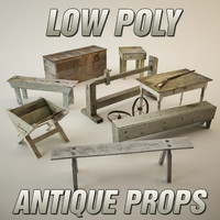 Low Poly Antique Prop Pack