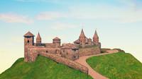 3d c4d kamianets podilskyi castle