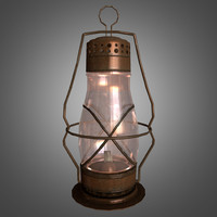 oil lantern glass 3d obj