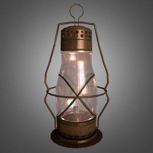 oil lantern glass 3d obj