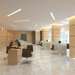 3d model of office interior