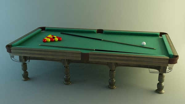 3ds max snooker table