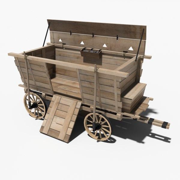 medieval war wagon 3d model