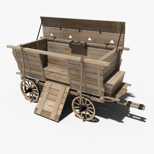 medieval war wagon 3d model